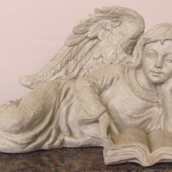 Angel reading book tiny